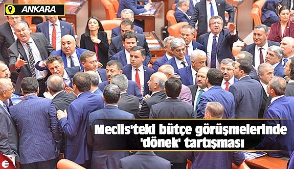 Meclis'teki bütçe görüşmelerinde 'dönek' tartışması