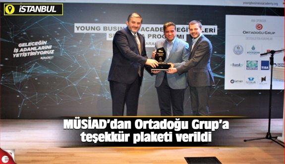 MÜSİAD'dan Ortadoğu Grup'a teşekkür plaketi verildi