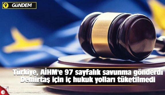 Türkiye, AİHM'e 97 sayfalık savunma gönderdi Demirtaş için iç hukuk yolları tüketilmedi