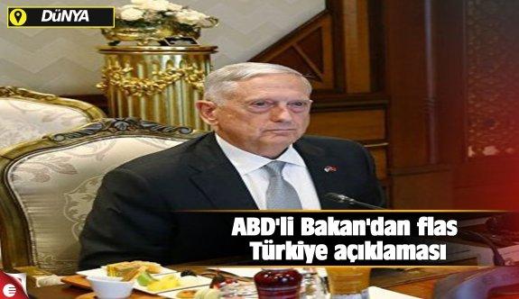 ABD'li Bakan'dan flaş Türkiye açıklaması