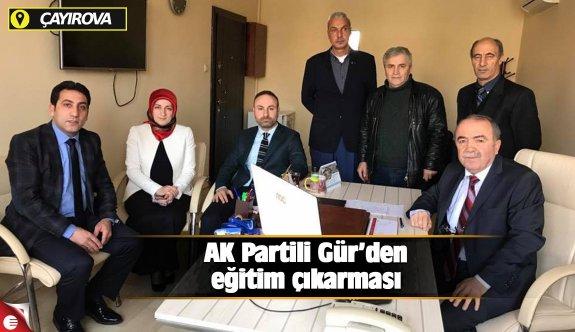 AK Partili Gür'den eğitim çıkarması