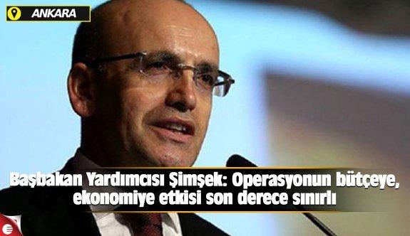 Başbakan Yardımcısı Şimşek: Operasyonun bütçeye, ekonomiye etkisi son derece sınırlı