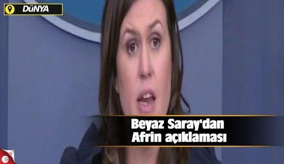 Beyaz Saray'dan Afrin açıklaması