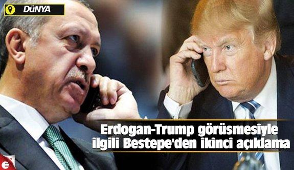 Erdoğan-Trump görüşmesiyle ilgili Beştepe'den ikinci açıklama