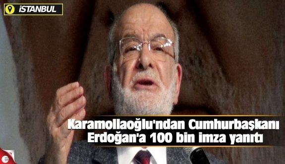 Karamollaoğlu'ndan Cumhurbaşkanı Erdoğan'a 100 bin imza yanıtı