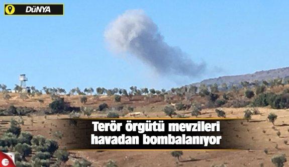 Terör örgütü mevzileri havadan bombalanıyor