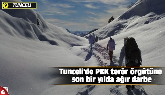 Tunceli'de PKK terör örgütüne son bir yılda ağır darbe