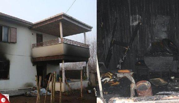 Anne ile engelli 2 kızı, yangında yaşamını yitirdi