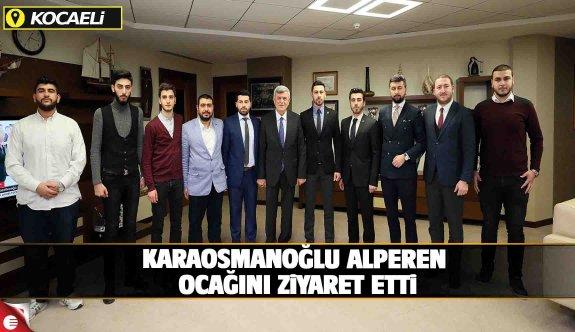 Başkan Karaosmanoğlu, Alperen Ocakları Kocaeli İl Yönetimini makamında konuk etti.