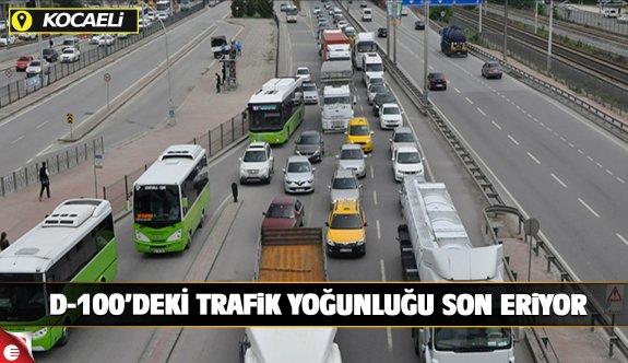 D-100'deki trafik yoğunluğu sona eriyor