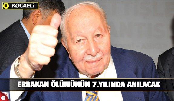 Erbakan Kocaeli'de anılacak