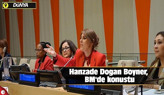 Hanzade Doğan Boyner, BM'de konuştu
