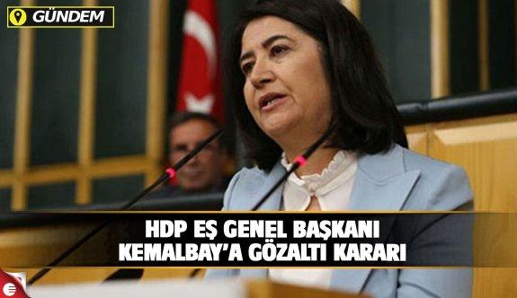 HDP Eş Genel Başkanı Kemalbay'a gözaltı kararı