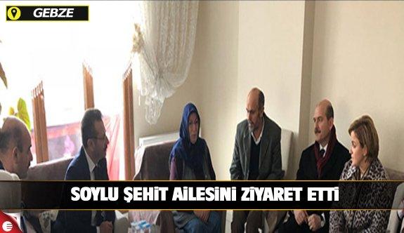 İç İşleri Bakanı Gebzeli şehidin Ailesini ziyaret etti