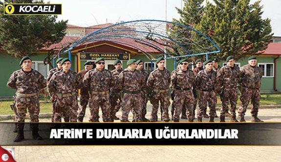 Kocaeli'de PÖH'ler dualarla Afrin'e uğurlandı