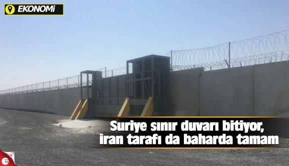 Suriye sınır duvarı bitiyor, İran tarafı da baharda tamam