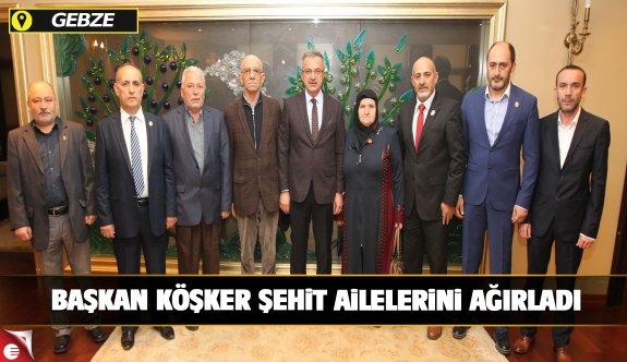 Başkan Köşker Şehit ve Gazi Derneği'ni ağırladı