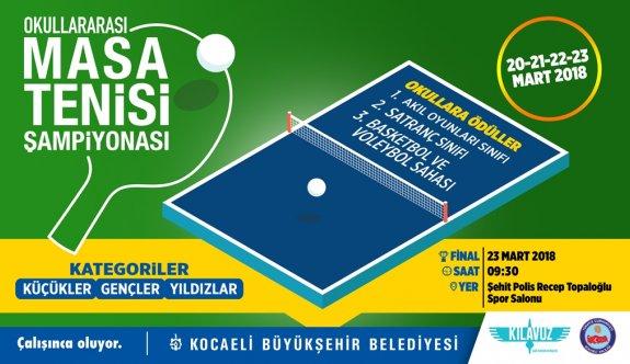 Büyükşehir,  Masa Tenisi Şampiyonası düzenleyecek