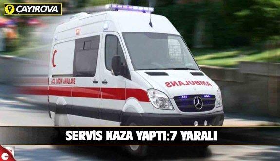 İşçileri taşıyan servis kaza yaptı: 7 yaralı!