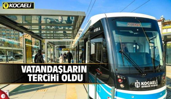 Akçaray'da yolcu taşıma rekoru; günlük 36 bin yolcu