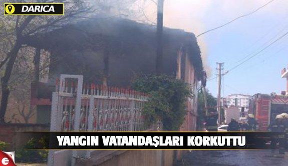 Darıaca'daki yangın vatandaşı korkuttu