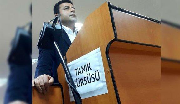 Demirtaş'ın 'suç işlemeye tahrik'ten tutukluluğunun kaldırılması istendi