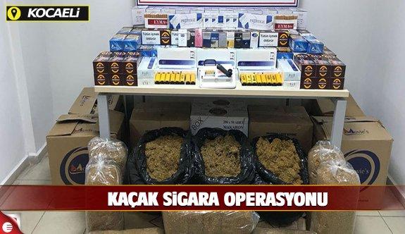 Dilovası ve Körfez'de kaçak sigara operasyonu
