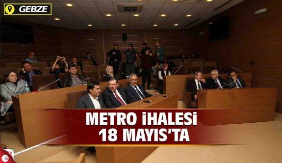 Gebze Metrosu İhalesi 18 Mayıs'ta