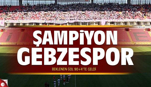 Gebzespor Eskişehir'de Şampiyonluğunu ilan etti!