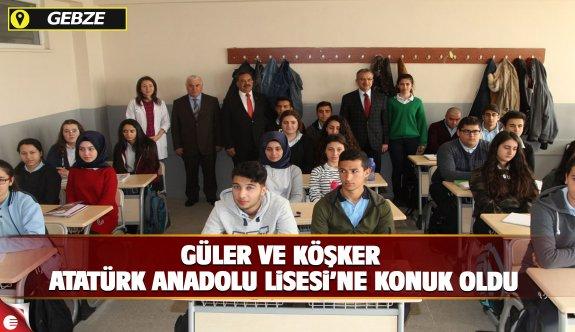 Kaymakam Güler ve Başkan Köşker Atatürk Anadolu Lisesi'ne konuk oldu
