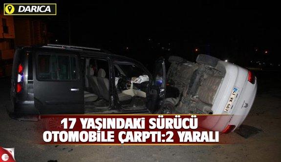17 yaşındaki sürücü park halindeki araca çarptı.