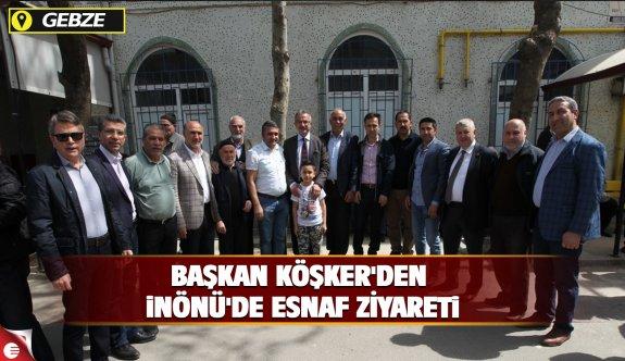 Köşker'den İnönü'de esnaf ziyareti
