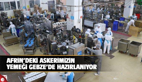 Mehmetciğin yemeği Gebze'de yapılıyor