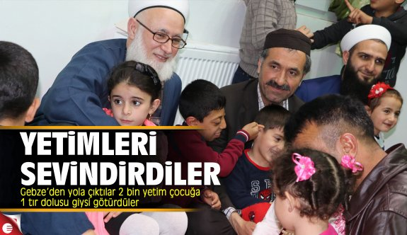 Suriyeli yetimleri sevindirdiler