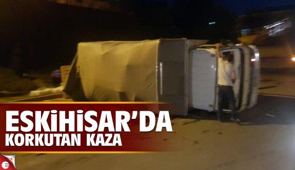 Eskihisar'da korkutan kaza