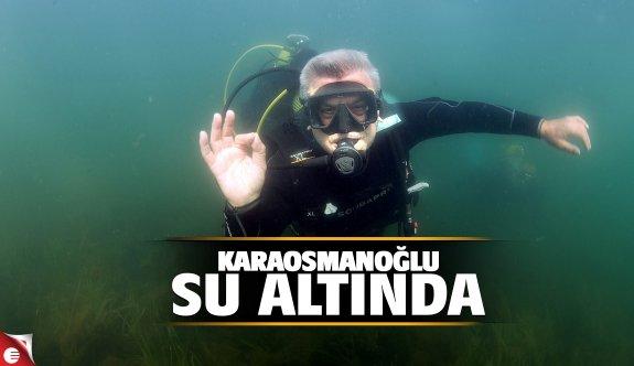Karaosmanoğlu su altında.