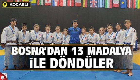 Bosna'dan 13 madalya ile döndüler