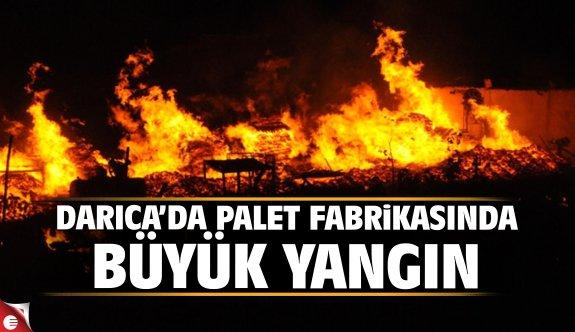 Darıca'da palet fabrikasında büyük yangın