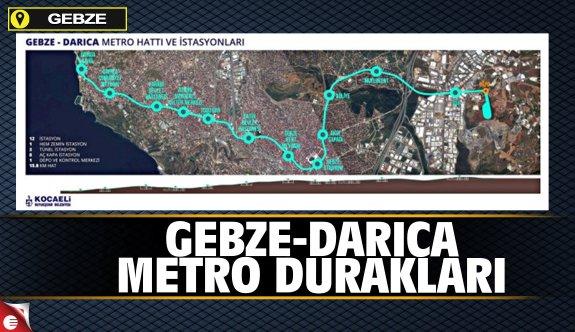 Gebze-Darıca metro durakları
