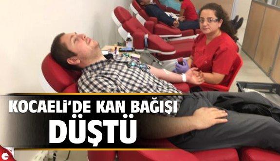 Kocaeli'de kan bağışı düştü