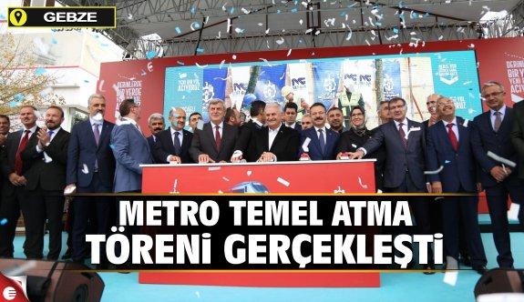 Metro temel atma töreni gerçekleşti