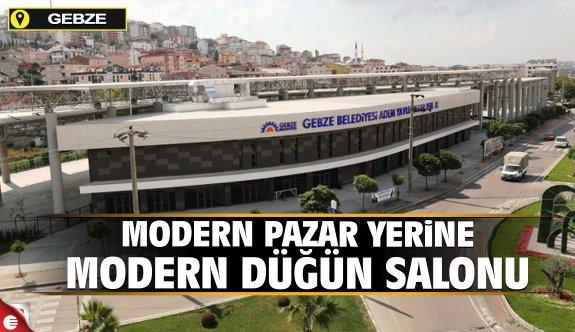 Modern pazar yerine modern düğün salonu