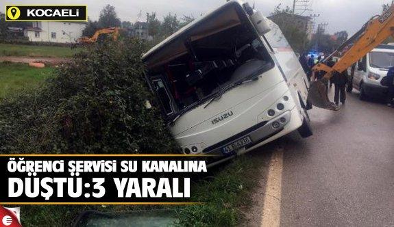 Öğrenci Servisi Su Kanalına Düştü: 3 Yaralı