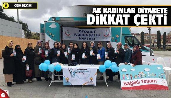 AK Kadınlar Diyabete dikkat çekti
