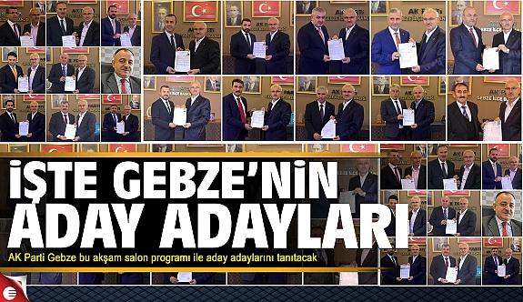 AK Parti Gebze aday adaylarını tanıtıyor 2019