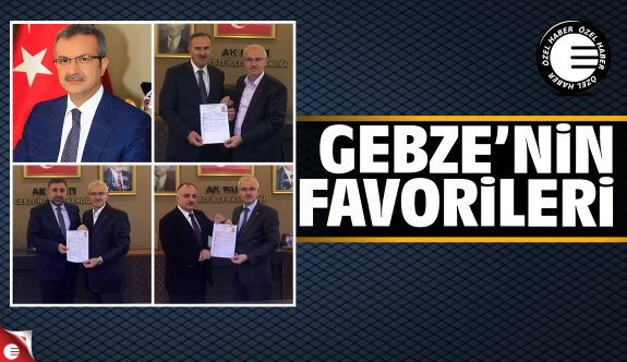 AK Parti Gebze'nin en favori isimleri 2019
