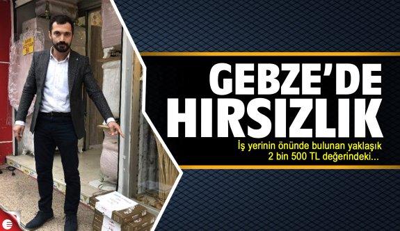 Gebze'de güpegündüz hırsızlık