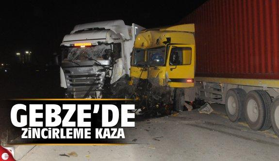Gebze'de zincirleme kaza: 1 ölü 2 yaralı