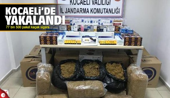 Kocaeli'de 77 bin 500 paket kaçak sigara yakalandı