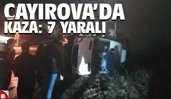 Çayırova'da feci kaza: 7 yaralı